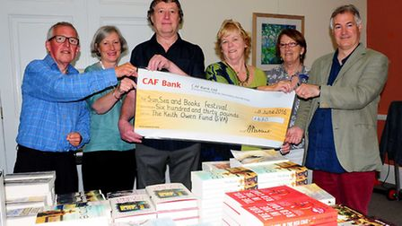 The Sun, Sea & Books festival had a £630 boost from the Keith Owen Fund