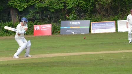 Sidbury batsman Ben Pollard in action against Greys