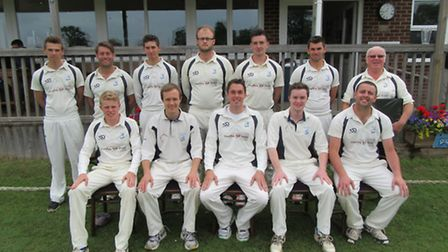 The Ottery St Mary 1st XI: Back row (left to right); Back row: Ollie Reed, Mickey Wilkinson, Billy R
