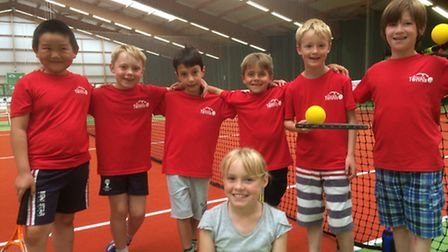 The mini-red boy's Aegon team at Sidmouth