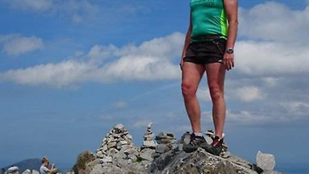 Sidmouth runner Don on top of the Diamond Connemara