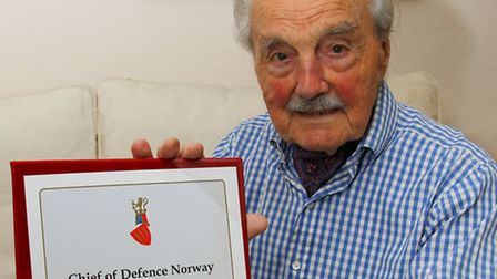 Former soldier from Newton Poppleford - Second lieutenant, Raymond Savage, recently received a liber