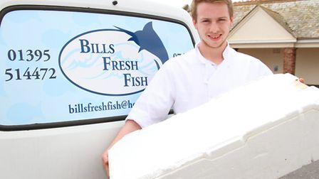 Billy Roberts launches his new business, Bills Fresh Fish. Ref shs 21-16AW 8287. Picture: Alex Walto