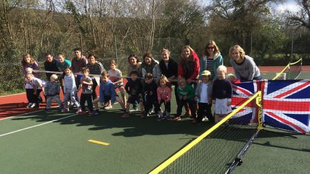 Sidford Tennis Club's event that brought an end to the club's Davis Cup Legacy programme.s