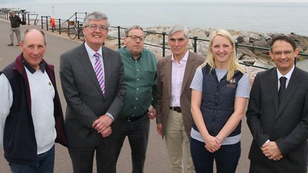 Pictured at the launch of the new Sidmouth Hopper Bus this week are cllrs Kelvin Dent, John Dyson an