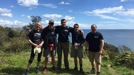 Members of the Red Coast Ramblers take on a mammoth walk for the Admiral Nurse Campaign.