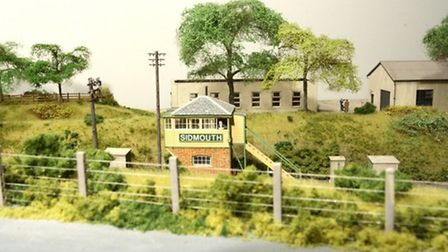 Richard Harper's model of Sidmouth's railway. Photographed by Barry Norman
