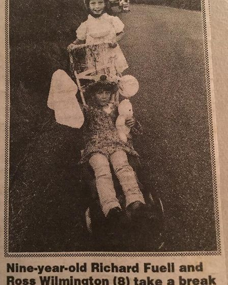 Ross Willmington at the age of nine won the pram race.