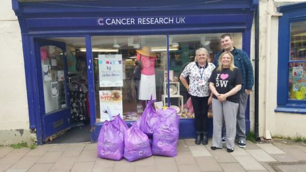 Slimming World members in Sidmouth donated 92 bags to Cancer Research UK in Sidmouth.