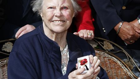 Afternoon tea for Nancy Bowstead an RBL member for 70 years. Ref shs 6838-21-15TI. Picture: Terry If