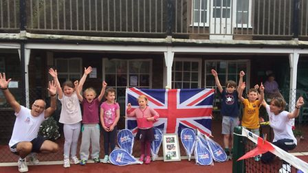 Sidmouth Tennis Club's Davis Cup Legacy event group who took part.