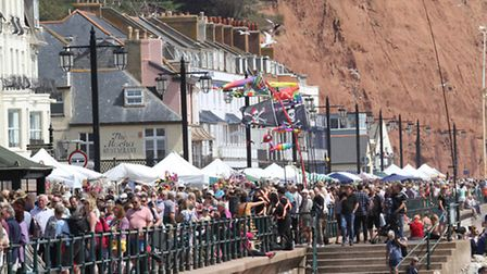 Trading on Sidmouth's Esplanade is only allowed at certain times, such as FolkWeek. Ref shs 6649-32-