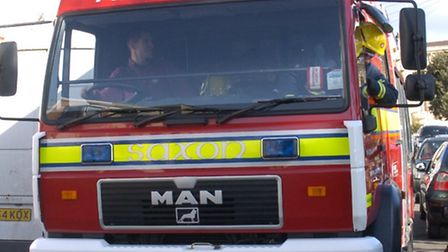 Fire crews were called to East Brent earlier this evening.