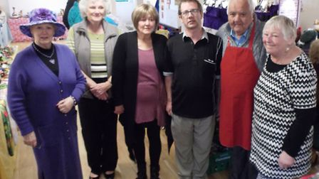 Organisers and stall holders at the newly established Friday market in Kennaway House