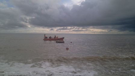 A stock picture of Beer Coastguard at work.