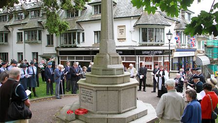Sidmouth marked Armed Forces Day with a service at the town's War Memorial. Ref shs 26-16TI 2808. Pi