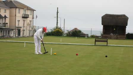 Croquet action at Sidmouth