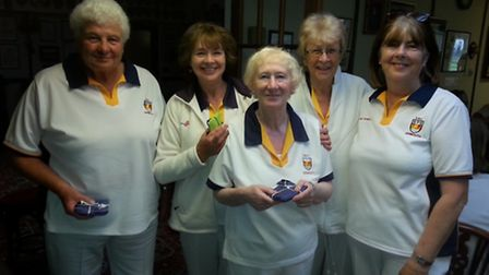 The Sidmouth team that were runners up in the club's Sears Trophy meeting