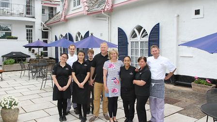 Dan and Megan Cozens and their team at the Woodlands Hotel. Ref shs 24-16SH 8422. Picture: Simon Hor