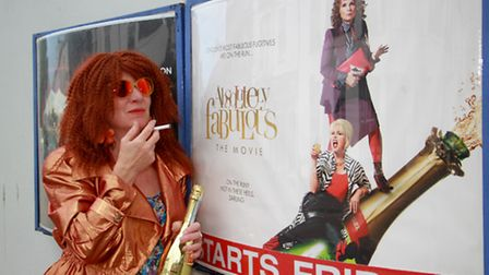 Julia Hardy as Eddie from Ab Fab. Ref shs 27-16TI 3646. Picture: Terry Ife
