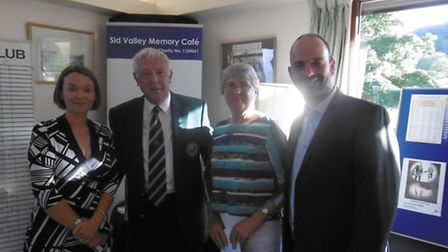 Sidmouth Golf Club Capatin's Day lady winner Yvonne Anning with Dr Louise Knight from the Admiral Nu