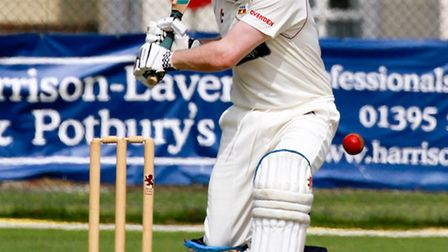 Dave Watkin batting for Sidmouth 2nds at home to Plymouth. Ref shsp 24-16TI 2106. Picture: Terry Ife