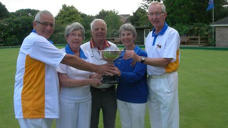 The Ottery St Mary team that were winners of the Howard Cottrell trophy at Honiton.