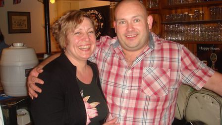 Jacqui and Mike Downs celebrate after The Volunteer Inn, Ottery St Mary, scooped TripAdvisor Certifi