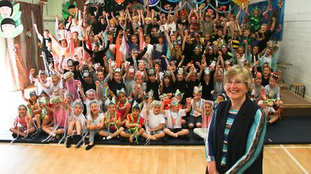 West Hill Primary School pupils dedicate their summer play to headteacher, Sue Nield, who retires at
