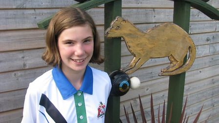 Ottery St Mary bowler Grace Ward who, at the age of 12, played recently for the Devon Under-25 team