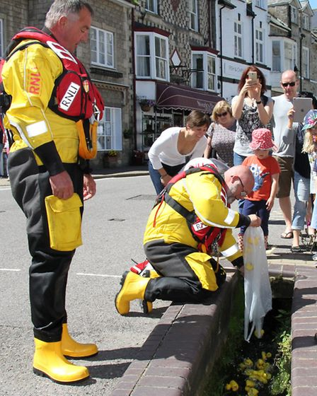 Beer Lifeboat Week included a duck race on Sunday afternoon. Ref shb 27-16SH 1265. Picture: Simon Ho