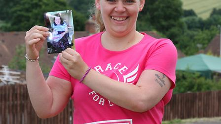 Sidford resident Anita Searle will be running in the Race for Life event in memory of her mum Barbar
