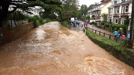 The Ford in Sidmouth during previous floods