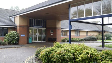 Ottery St Mary Hospital entrance. Ref sho 7454-44-14TI Picture: Terry Ife