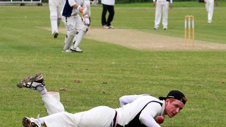 Ottery 2nds fielding against Lewdown. Ref shsp 23-16TI 1568. Picture: Terry Ife