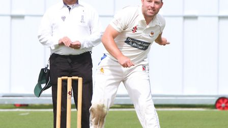 Sidmouth 1sts played Torquay on Saturday. Matt Cooke keeps his eye on the ball. Ref shsp 26-16AW 155