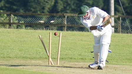 Tipton batsman Mark Channon is bowled in the meeting with Chulmleigh