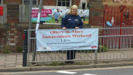 Chair of Ottery Chamber of Commerce, Viv Abbott, announced the launch of Independents' Day