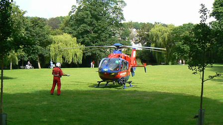 Anthony Broughton took this shot of the air ambulance, which was called out to an accident in Salcom