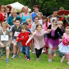 Sidmouth primary school's fun run in The Byes. Ref shs 26-16TI 3245. Picture: Terry Ife