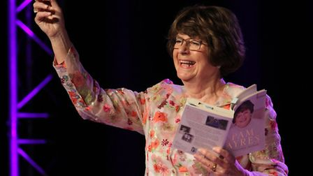 Pam Ayres performs at the Ham Marquee. Ref shs 30-16SH 3391. Picture: Simon Horn.