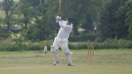 Tipton player Steve Walker on his way to 96.