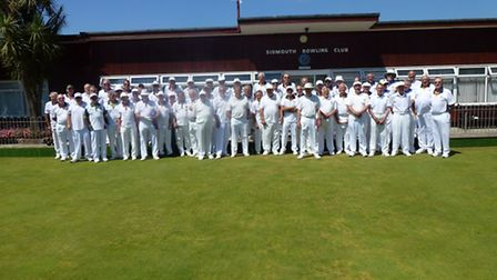 The players who took part in the Jubillee Trophy meeting at Sidmouth