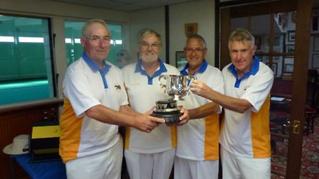 The winning Ottery team Eric Richardson, Richard Bland, Brian Salter and Terry House, with the Jubil