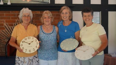(Left to right,) Susan Hackett, Angela Coles (Sidmouth Golf Club ladies captain), Jill Jeffrey and M
