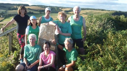 The Sidmouth Running Club beginners group at High Peak.