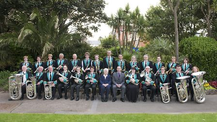 Sidmouth Town Band in 2016