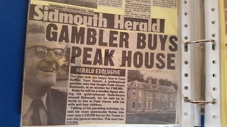The Sidmouth Herald article on Tony Barlow buying Peak House
