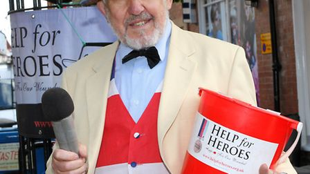 Wally Cotgrave's golden voice has raised £40,000 for Help for Heroes. Ref shs 28-16SH 2006. Picture: