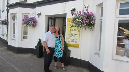 Lisa and Andy Downham have taken over The Rising Sun in Sidford